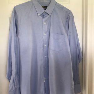 Blue Pinpoint Dress Shirt - Size 17-34/35